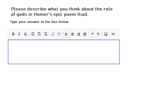 essay type question