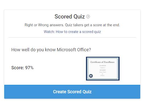 Create Scored Quiz