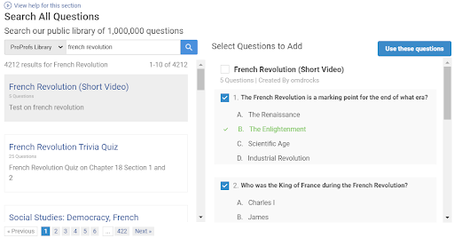 Search Questions