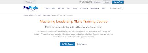 Mastering skill training course