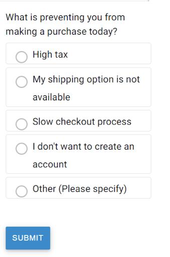 Cart Abandonment Survey