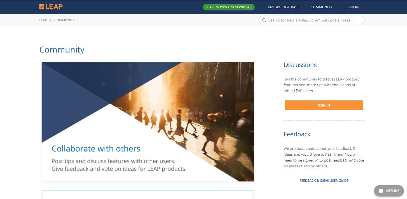 Leap Customer Portal Help Center