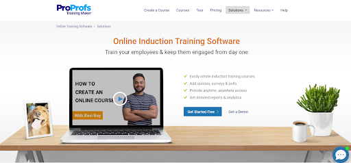 Online Induction Training Software