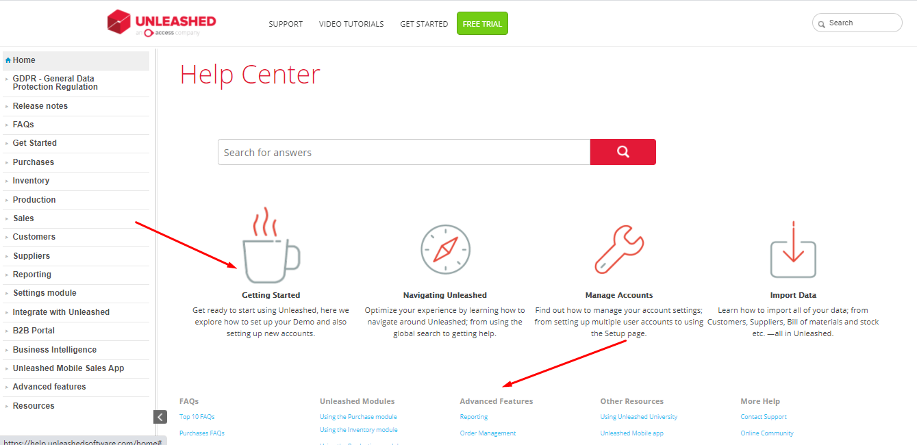 Unleased Customer portal example