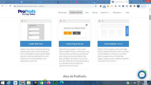 Website survey templates