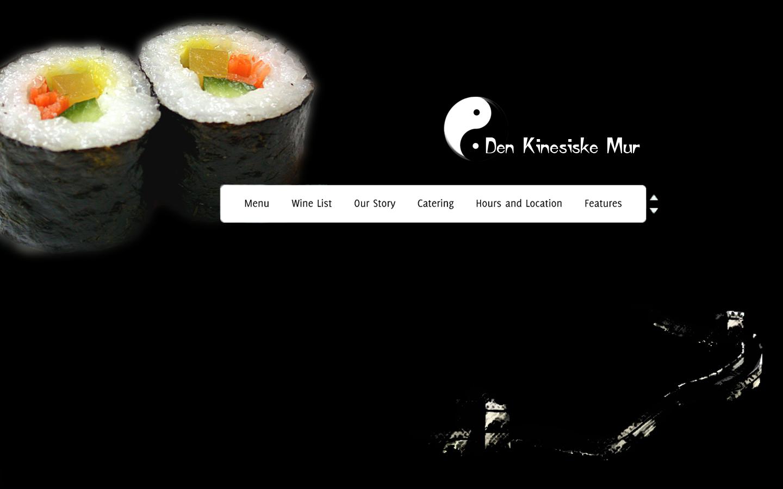 Den Kinesiske Mur - Hjemmeside Layout