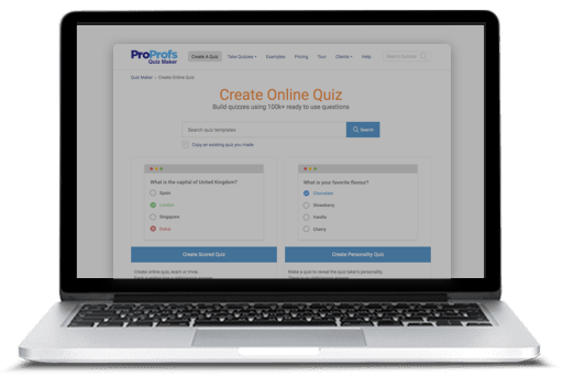 create online tests using proprofs quiz maker