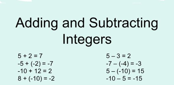 Adding and subtracting integer Quizzes, Adding and subtracting integer Trivia, Adding and subtracting integer Questions