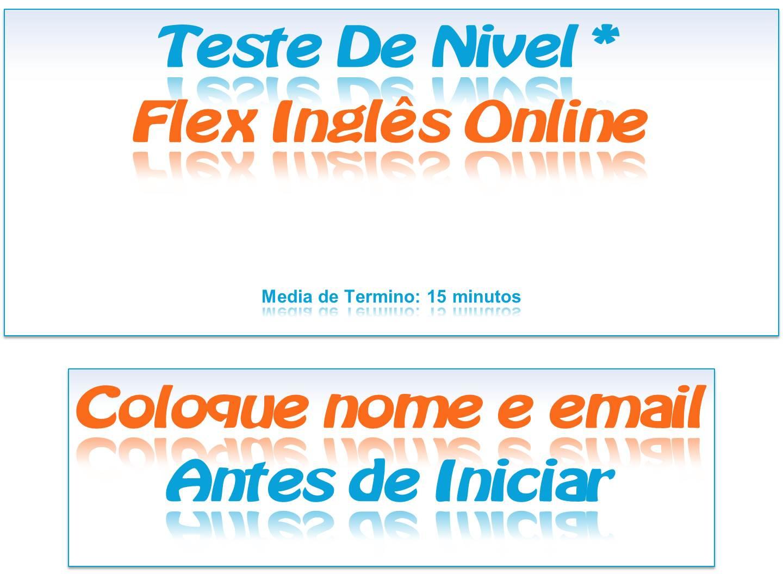 Teste De Nivel Da Flex Ingles Online