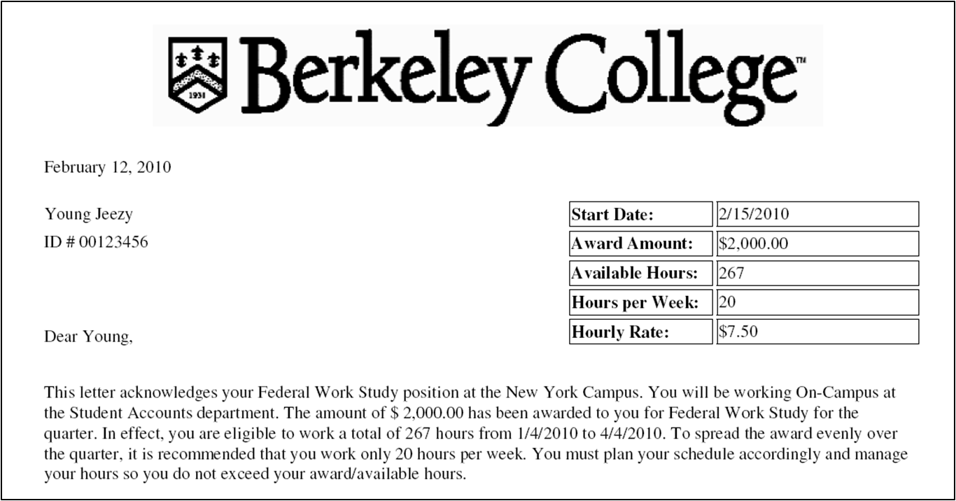 Does Federal Work-Study help pay my tuition bill ...
