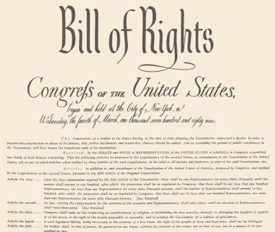 Bill Of Rights & Landmark Supreme Court Cases