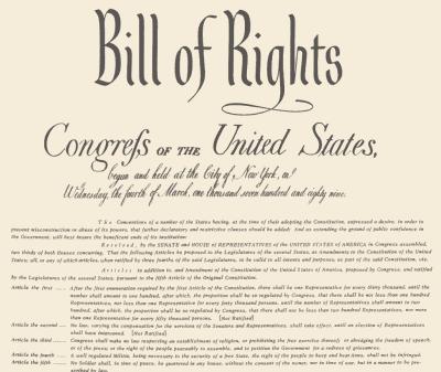 Bill Of Rights & Landmark Supreme Court Cases