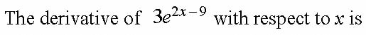Quiz 2 Differentiation Of Exponential Functions (II)