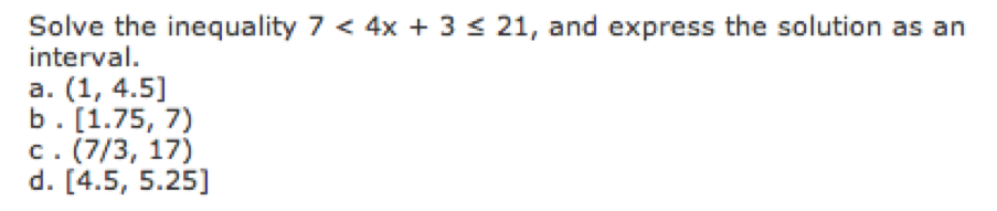 Precalculus: Sect. P.1 To P.5 Test