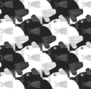 how to make a dolphin tessellation