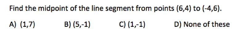 Pre-calculus Midterm Exam