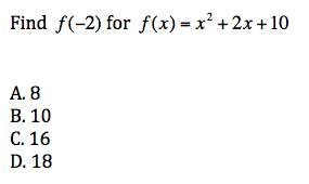 Algebra II Final Exam Practice Quiz