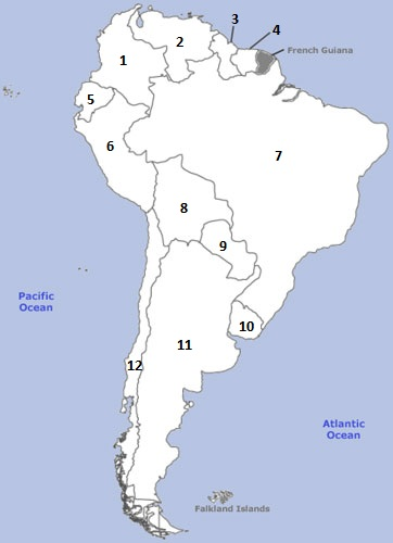 Map Quiz Of South America