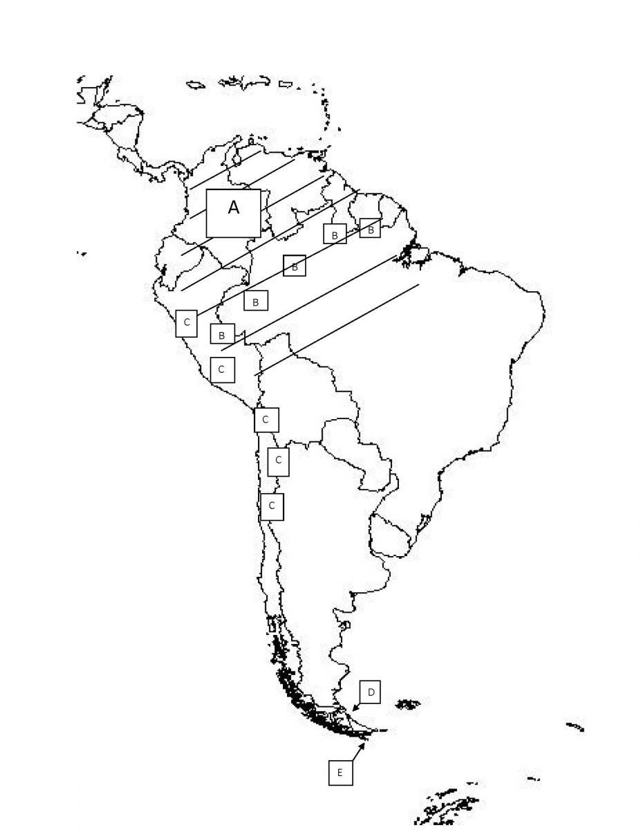 South America Practice Map Test ProProfs Quiz - South america map labeled