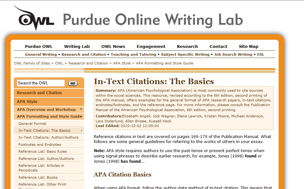 apa style internet source A full template and example to help you write a citation for a website in the apa style.