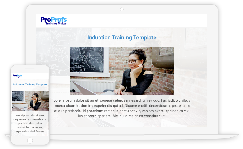 Create Induction Training Programs with Templates
