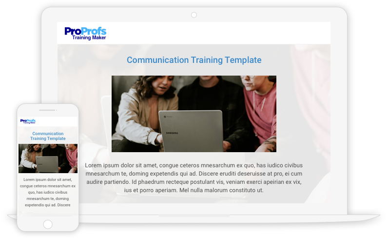 Create Communication Training Programs with Templates